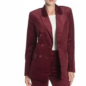 Joie Blazer Double-Breasted Peaked Lapel C…